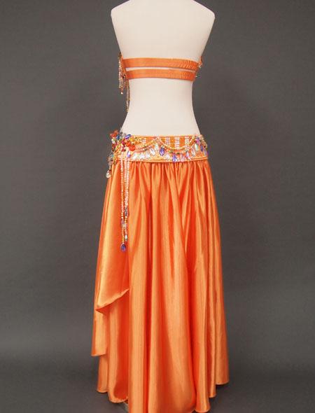 オレンジカラフル7 MiLLANAベリーダンス衣装