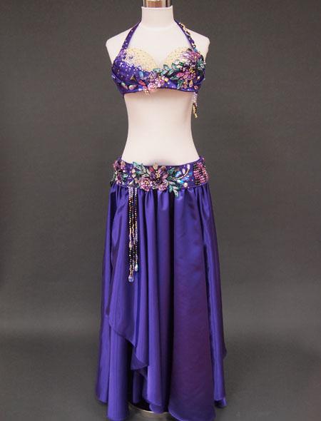 パープルベリーダンス衣装1 ミラーナ