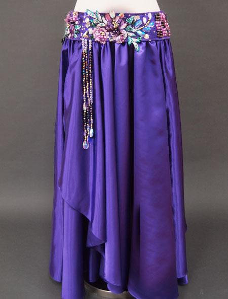 パープルベリーダンス衣装3 ミラーナ