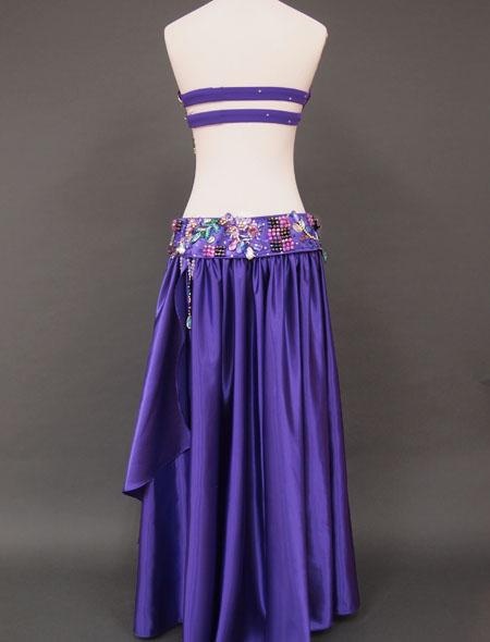 パープルベリーダンス衣装6 ミラーナ