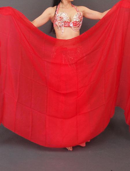 ベール 赤 ミラーナベリーダンス衣装
