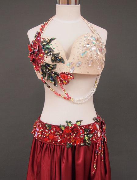 赤ローズベリーダンス衣装2 ミラーナ