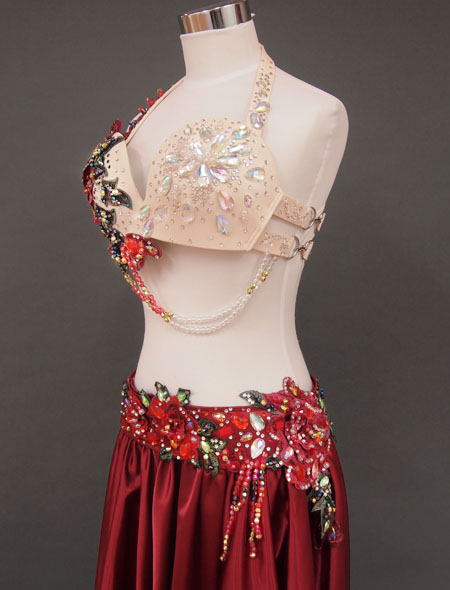 赤ローズベリーダンス衣装4 ミラーナ