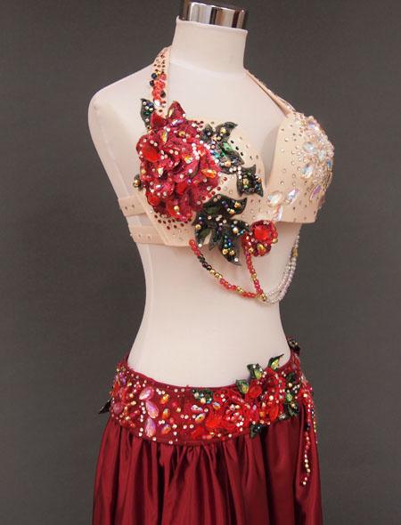 赤ローズベリーダンス衣装5 ミラーナ