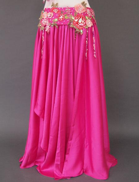 ピンクグリーンベリーダンス衣装3 ミラーナ