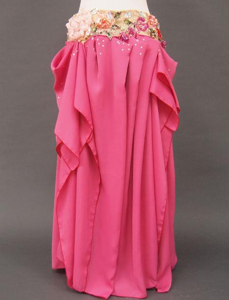 気品溢れるローズのベリーダンス衣装3 MiLLANA