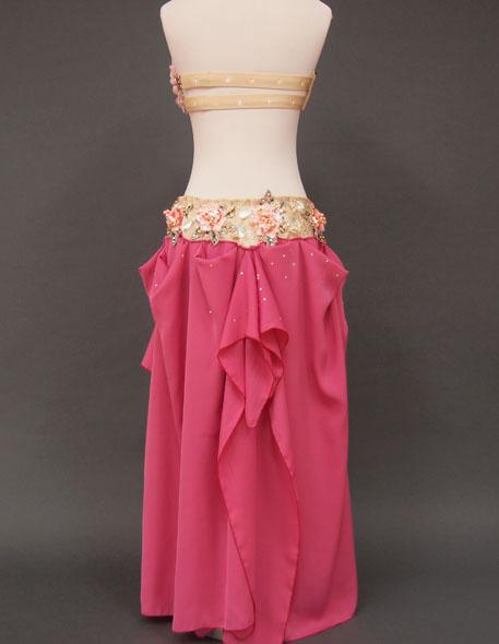 気品溢れるローズのベリーダンス衣装6 MiLLANA
