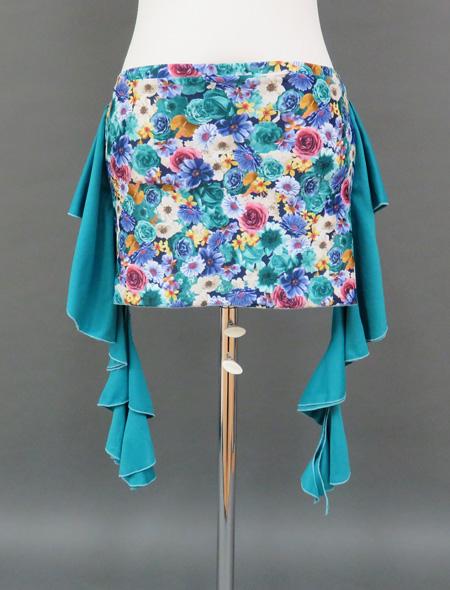 花柄ヒップスカーフ