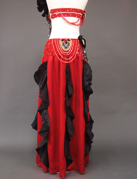 赤黒ベリーダンス衣装7 ミラーナ