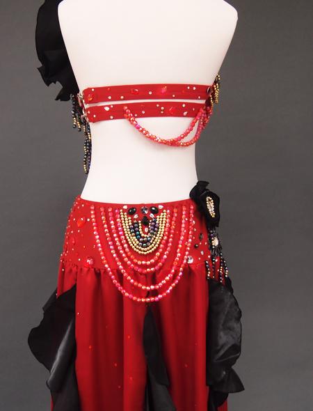 赤黒ベリーダンス衣装8 ミラーナ