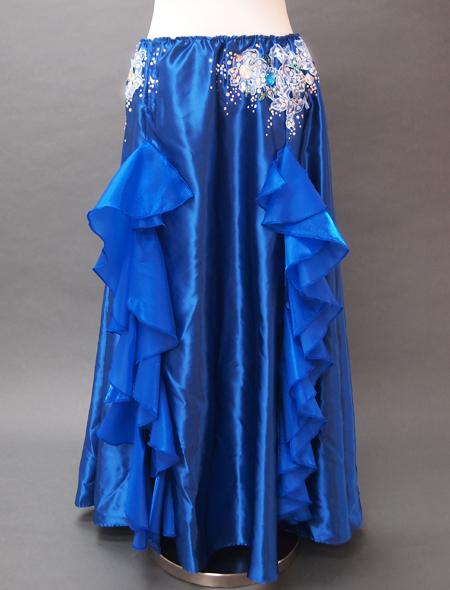 ブルーフリルコスチューム3 ミラーナベリーダンス衣装