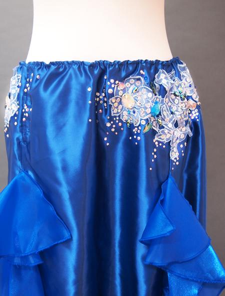 ブルーフリルコスチューム4 ミラーナベリーダンス衣装