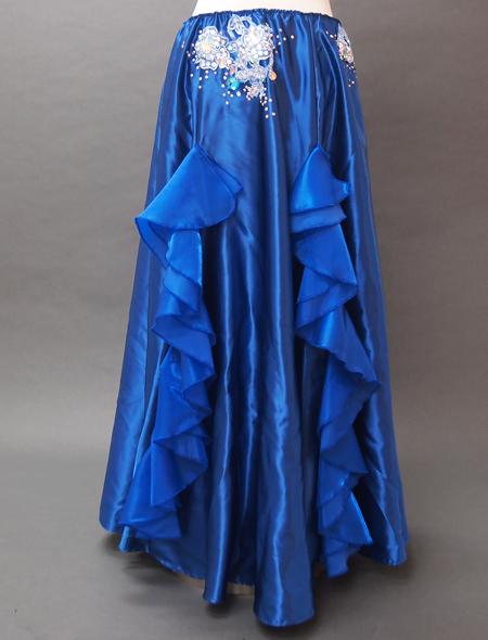 ブルーフリルコスチューム7 ミラーナベリーダンス衣装