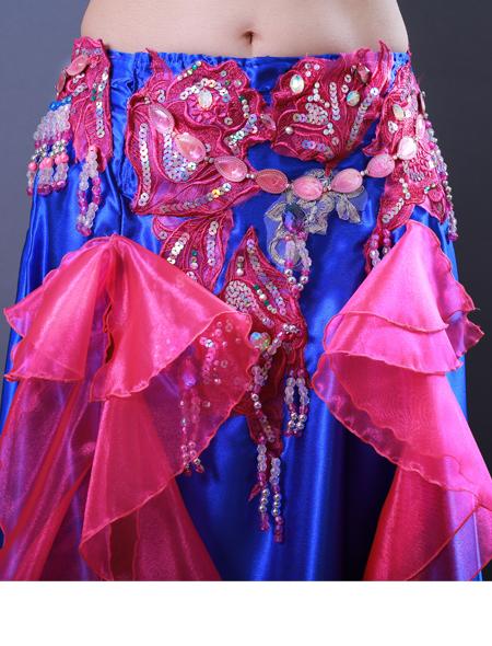 青フリル5 ミラーナベリーダンス衣装
