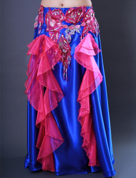 青フリル7 ミラーナベリーダンス衣装