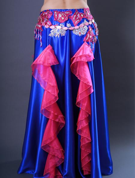 青フリル8 ミラーナベリーダンス衣装