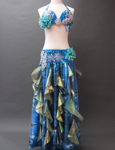 ブルーコスチューム1 MiLLANAベリーダンス衣装