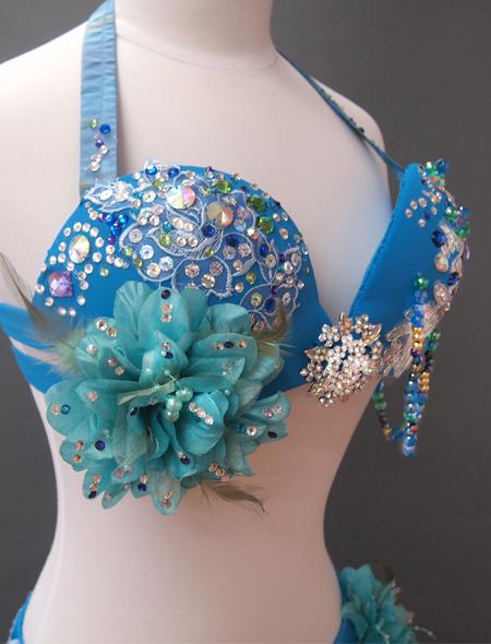 ブルーコスチューム3 MiLLANAベリーダンス衣装