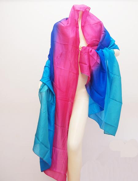 青ピンクベール1 ミラーナベリーダンス衣装