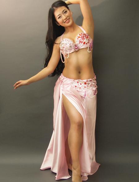 チェリーピンクが可愛い!ベリーダンス衣装2 ミラーナ