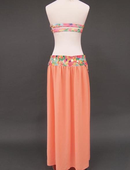 サーモンピンクベリーダンス衣装3 ミラーナ