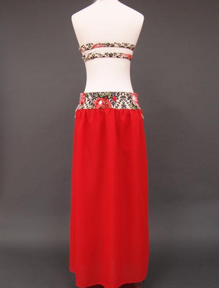 深紅ダマスクベリーダンス衣装3 ミラーナ
