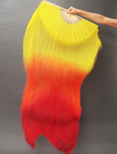 ファンベール 黄色オレンジ ミラーナベリーダンス衣装