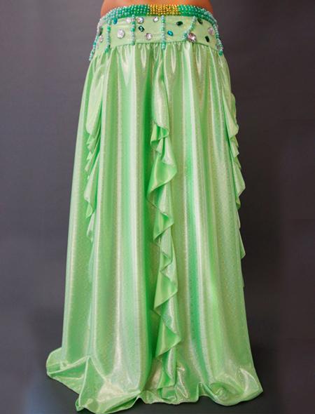 鮮やかなグリーンのベリーダンス衣装 ミラーナ