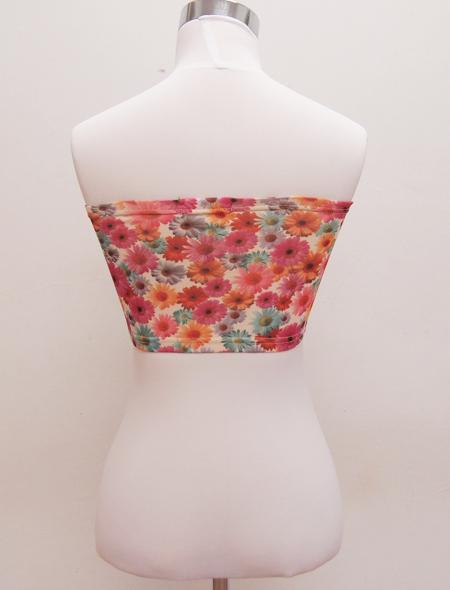 花柄チューブトップ2 ミラーナベリーダンス衣装