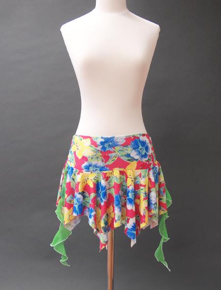 カラフル花柄ヒップスカーフ ミラーナベリーダンス衣装