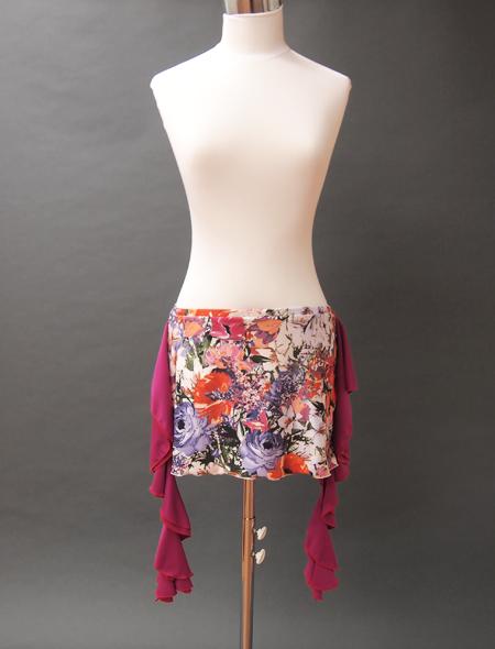 鮮やか絵画ヒップスカーフ1 ミラーナベリーダンス衣装