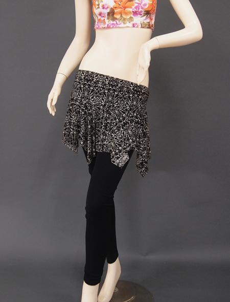 黒ダマスクヒップスカーフ1 ミラーナベリーダンス衣装