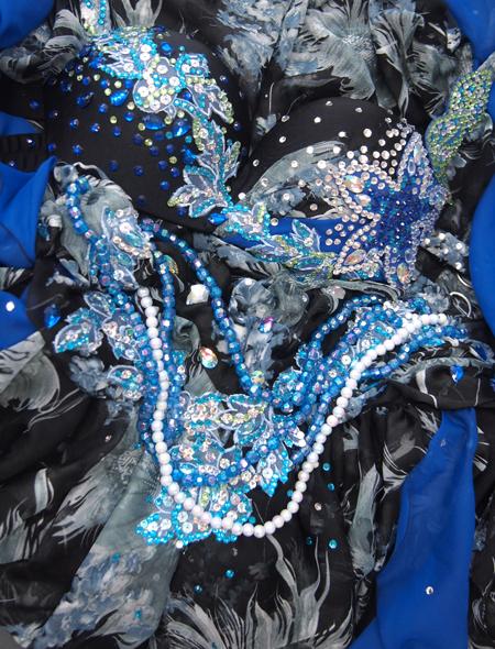 黒柄衣装2 ミラーナベリーダンス衣装