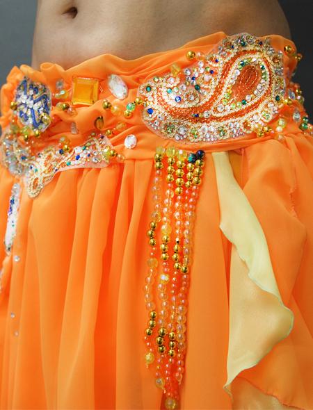 アラビアンなオレンジベリーダンス衣装4 ミラーナ