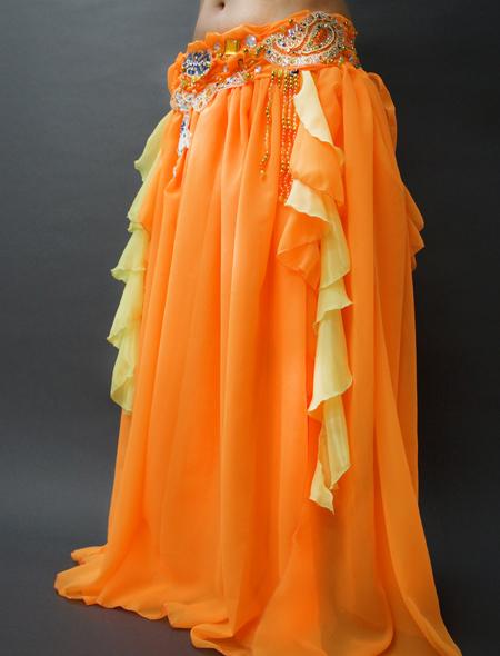 アラビアンなオレンジベリーダンス衣装 ミラーナ