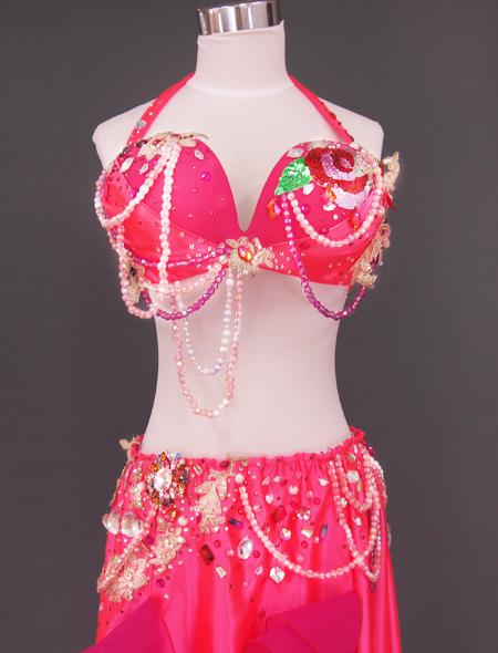 ピンク薔薇ベリーダンス衣装2 ミラーナ