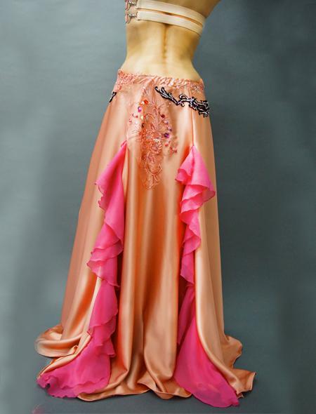 ロゼシャンパンのようなピンクベリーダンス衣装 ミラーナ