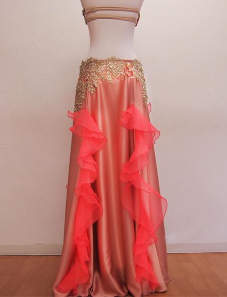 ピンクフリルコスチュー4  ミラーナベリーダンス衣装