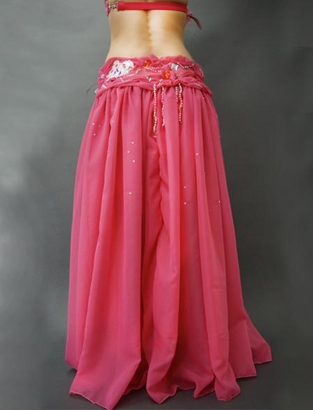 ピンクのコサージュが可愛いベリーダンス衣装4 ミラーナ