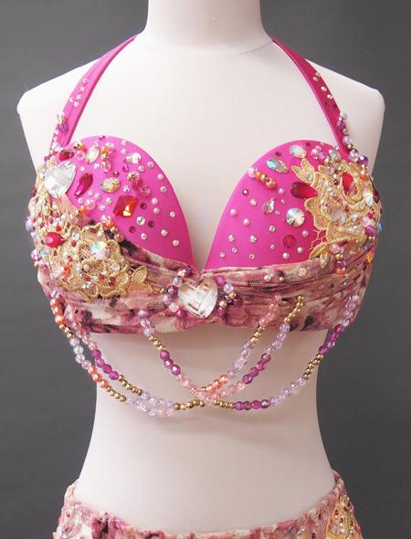 ピンクファンタジーベリーダンス衣装2 ミラーナ