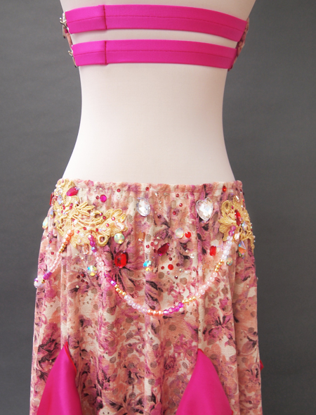 ピンクファンタジーベリーダンス衣装8 ミラーナ