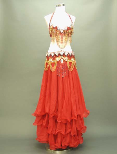 赤のアラビアン風格安ベリーダンス衣装 ミラーナ