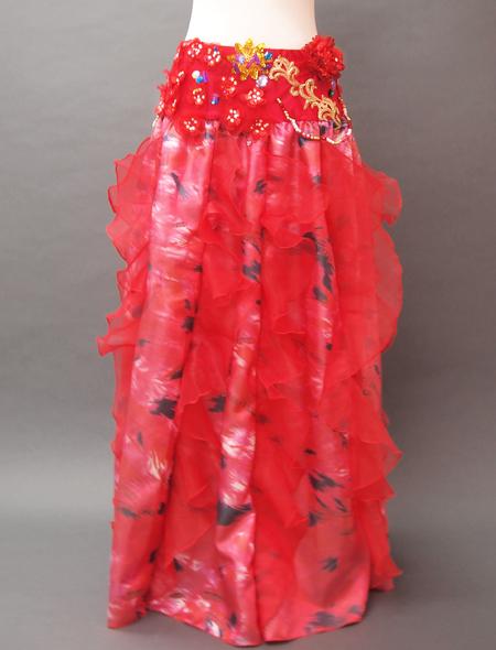 赤の花モチーフベリーダンス衣装2 MiLLANA