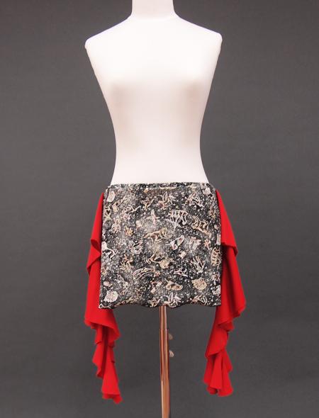 星座が描かれたヒップスカーフ1 ミラーナベリーダンス衣装