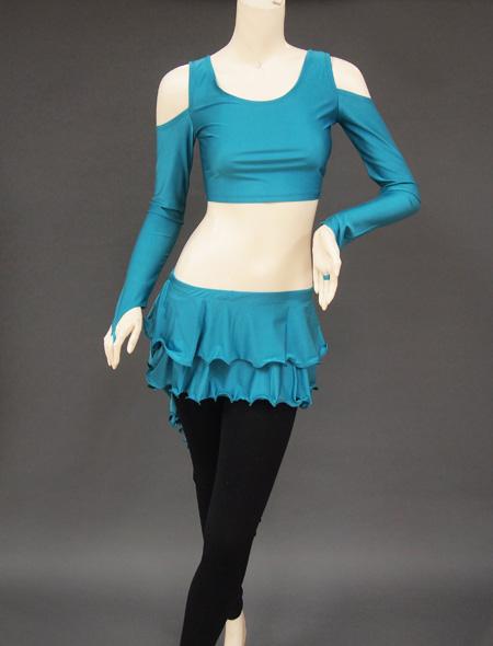 グリーンセットアップレッスンウエア2 ミラーナベリーダンス衣装