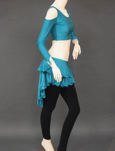 グリーンセットアップレッスンウエア3 ミラーナベリーダンス衣装