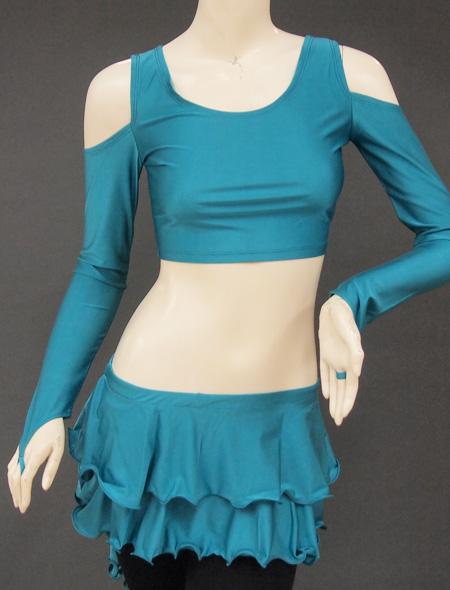 グリーンセットアップレッスンウエア5 ミラーナベリーダンス衣装