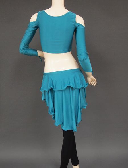 グリーンセットアップレッスンウエア6 ミラーナベリーダンス衣装