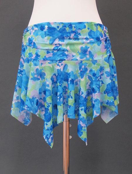 ブルー水彩ヒップスカーフ2 ミラーナ