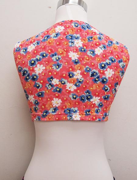 ピンク花柄トップス ミラーナベリーダンス衣装3